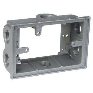 Greenfield 1 Gang Weatherproof Electrical Outlet Box With Three 1 2 In Holes