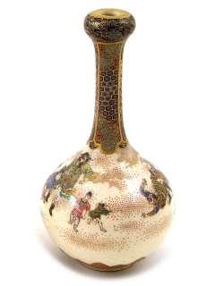 Pair of Military Massacre Signed Japanese Satsuma Vases
