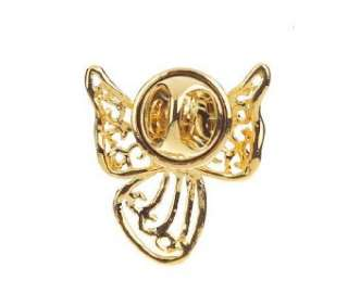 SET OF 12 GUARDIAN ANGEL BROOCHES LAPEL PINS 18KTPLATED
