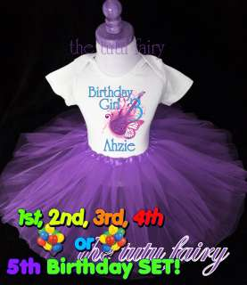 Roll Birthday Girl party shirt & purple set outfit name age 1 2 3
