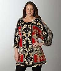 Women  Plus  Tops & Tees  Tunics  Dillards