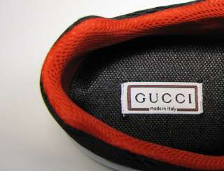 NEW GUCCI LACE UP WHITE LEATHER GREEN/WHITE/BLACK/RED SNEAKERS/SHOES