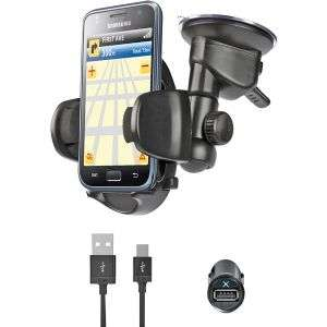 iLuv Windshield Mount Kit with Power Combo Pack for Smartphones at