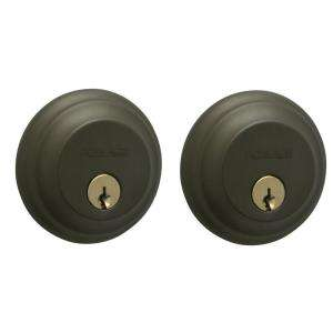 Schlage Double Cylinder Deadbolt (Oil Rubbed Bronze) B62N 613 at The