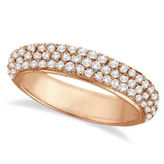 Hidalgo Micro Pave 3 Rows Diamond Ring 18k Rose Gold