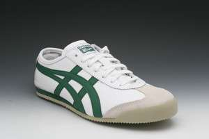 Asics Onitsuka Tiger Mexico 66 Sneakers in White/Green (HL202 0184