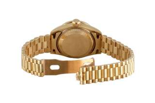 Factory Original Rolex Ladies Yellow Gold President Diamond Dial And