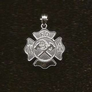 FIRE FIGHTERS BADGE charm .925 sterling silver