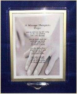 Massage Therapists Prayer Print Personalized