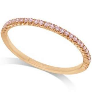 Micro Pave Pink Diamond Ring 18k Rose Gold by Hidalgo