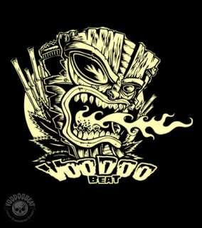 Tiki Volcano Longsleeve T Shirt  Tattoo Skate Surf Rod