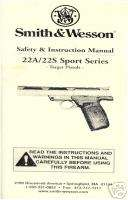 SMITH & WESSON 22A/22S Sport Series PISTOL GUN MANUAL