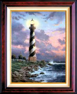 Cape Hatteras RARE 24x18 G/P Limited Thomas Kinkade Lighthouse Canvas