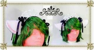 HAND MADE Cosplay Accessory Kitty Cat Ear Maid Headband