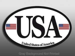 USA Sticker  american flags car decal patriotic us america euro race