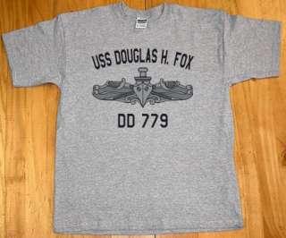 US USN Navy USS Douglas H. Fox DD 779 Destroyer T Shirt
