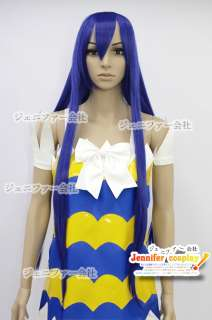 Fairy Tail Wendy Marvell Cosplay Wig Costume Only Wig Color Dark Blue