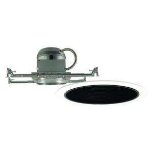 Design House 6 in. Recessed Lighting Kit with Black Baffle Ring Trim
