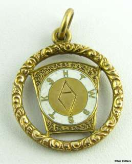 1918 Royal Arch Masonic Pendant   14k Yellow Gold Mark Master Masons