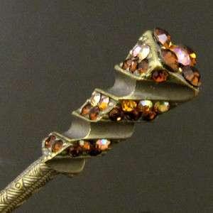 ADDL Item  1pc Austrian rhinestone crystal Antiqued hair