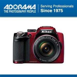 Nikon Coolpix P500 Digital Camera, Red   Refurbished by Nikon U.S.A