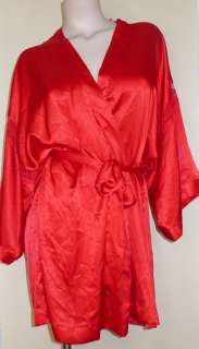 48 Victoria Secret Satin Kimono Lace Sleeves Robe M/L