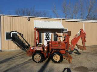 2000 Ditch Witch 3610 4X4 Ride On Trencher Backhoe Blade Trench