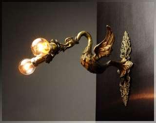 1910s French ART NOUVEAU Bronze Gargoyle Sculpture WALL LIGHT SCONCE