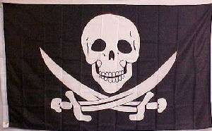 Calico Jack Rackham Jolly Roger Pirate Flag 3x5 Rodger