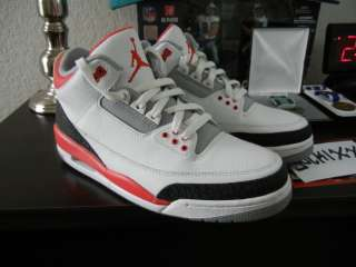 NIKE AIR JORDAN RETRO III 3 FIRE RED 10