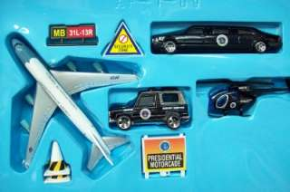 AIR FORCE ONE USA Diecast Airport Play Set 9 Pc