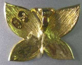 Vintage Gold color Butterfly pendant 1975 Mimi di N