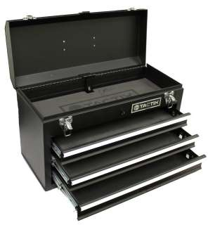 NEW TACTIX 321102 3 Drawer Steel Portable Tool Box