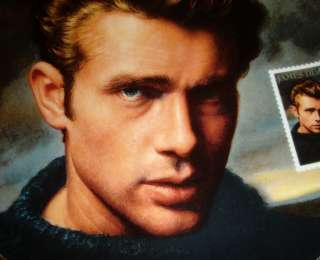 James Dean Plate Based on Deas Postage Stamp HOLLYWOOD REBEL Bx+COA