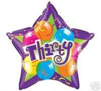 Happy 30th Birthday 18 balloons Gift Party Decorations