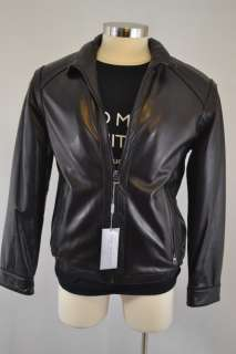 New York Black Leather Motorcycle Jacket $500 NWT Andrew Marc