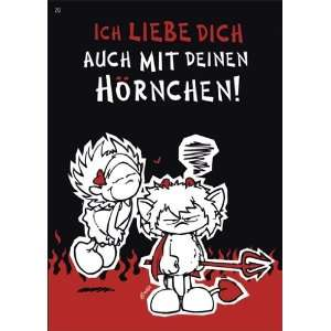 60369   NICI   Postkarte Ich liebe Dich auch mit Deinen Hörnchen
