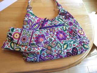 Bradley Viva la Vera Travel Envelope and Large Hobo Bag NWT