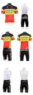 2011 QUICK STEP cycling jersey +bib shorts + BMC Gloves Bike bicycle
