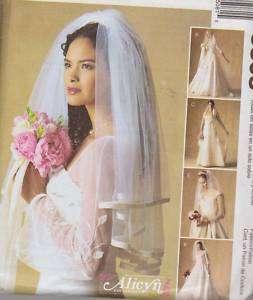 PATTERN Wedding VEIL 5 styles BRIDAL long short m3508
