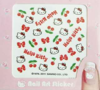 2011 New Hello Kitty Nail Art Sticker #Cherry