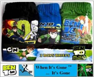 NEW BOYS 1x5 BEN 10 BRIEFS/PANTS age 3,4,5,6,7,8,9,10