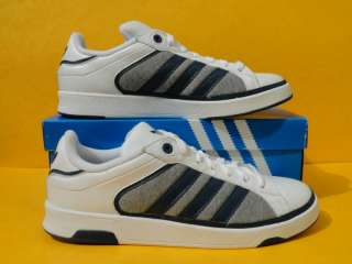 NEW MENS ADIDAS ADI COURT 1 WHT/BLU TRAINERS ARTG43926