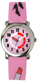 Sekonda Pink Lipstick & Handbag Hologram Time Teacher watch 4346