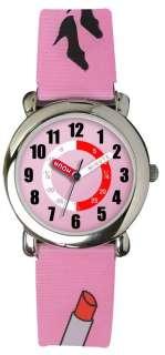 Sekonda Pink Lipstick & Handbag Hologram Time Teacher watch 4346