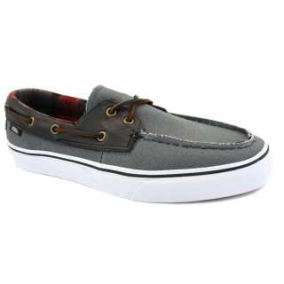 Vans Zapato Del Barco XC3L5J Mens Canvas & Leather Boat Shoes