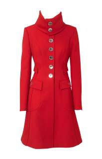 Karen Millen CH006 Riding coat Red