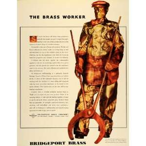 1938 Ad Bridgeport Brass LL Tony Balcolm Brass Worker