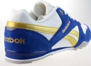 REEBOK World Cross II Mens Retro Casual Trainers White Blue Sizes 6 12