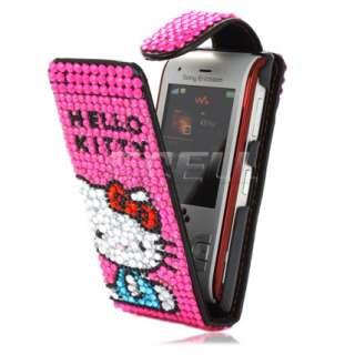 Ecell Designer Range   Leather Bling Flip Case Cover for Sony Ericsson